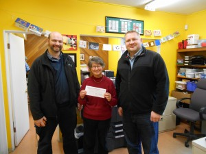 Cheque Presentation to Richmond Food Bank
