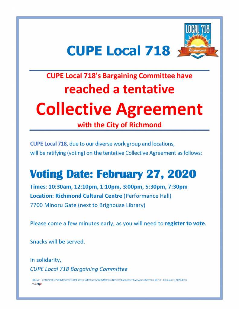 Ratification vote Feb 26, 2020